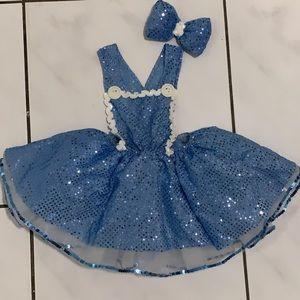 Princess puffy tutu overall costume. Size 3-4T